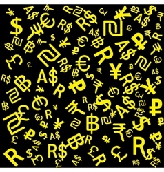 Background of the major world currencies vector