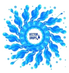 Blue paint splash circle on white background vector