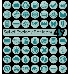 Set of ecology icons vector