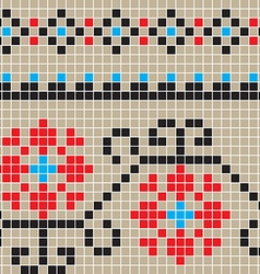 Eclectic romanian pattern vector