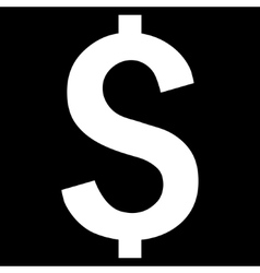 Dollar symbol flat icon vector