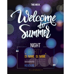 Welcome to summer signs on black background vector
