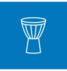 Timpani line icon vector