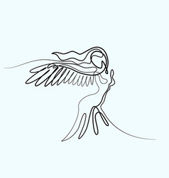 abstract portrait of angel woman with wings vector image vector image