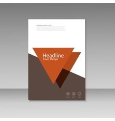 Abstract Triangle Brochure design cover vector image