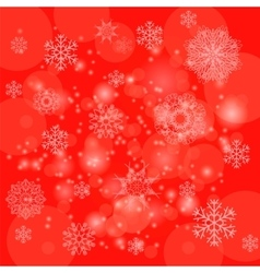 Abstract Winter Pattern Snowflakes Background vector image