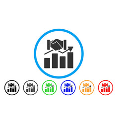 Acquisition graph rounded icon vector