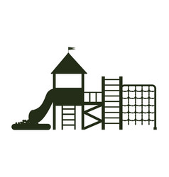 big playground for kids with ladders and balcony vector image vector image