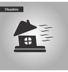 Black and white style storm the house vector
