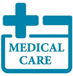 blue medical care icon vector image vector image