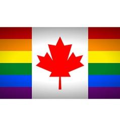 Canada gay flag vector