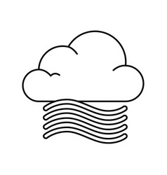 cloud weather with wind vector image vector image