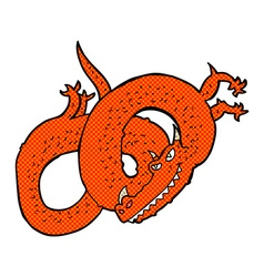 Comic cartoon dragon vector
