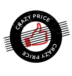 Crazy price rubber stamp vector