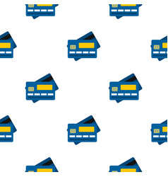 credit card pattern flat vector image vector image