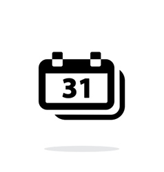 Dates simple icon on white background vector