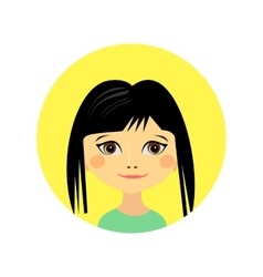 Female face avatar profile head vector image vector image