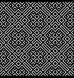 Geometrical seamless pattern black and white color vector