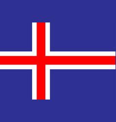 Iceland flag vector