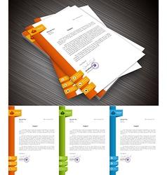 Letterhead vector image