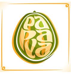 Logo for papaya vector
