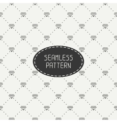 Monochrome hipster fashion geometric seamless vector image vector image
