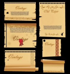 old paper with ornaments vector image vector image