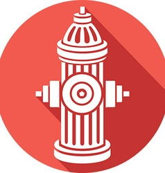 Open Fire Hydrant Icon vector image