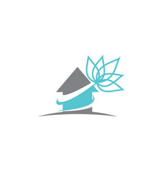 Real estate lotus flower vector