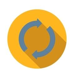 Refresh arrows icon flat style vector image vector image