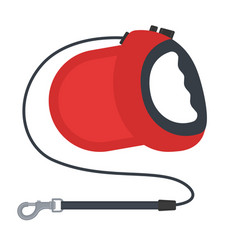 Retractable dog leash isolated on white vector