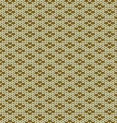 Seamless knitted wool pattern vector