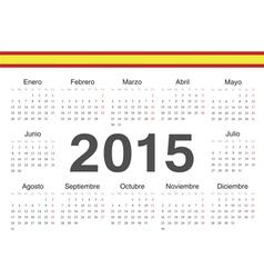 Spanish circle calendar 2015 vector