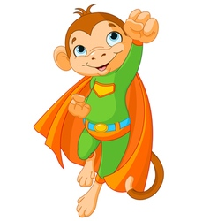 Super Monkey vector image vector image