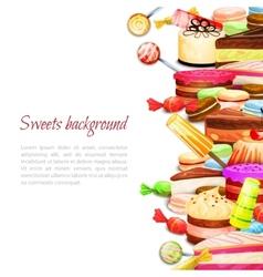 Sweet Food Background vector image