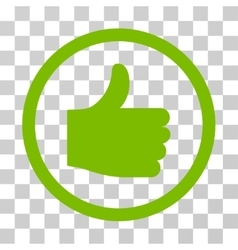 Thumb up rounded icon vector