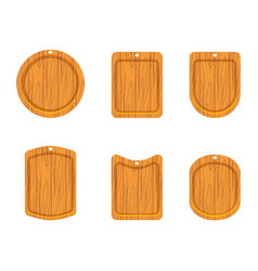 Wooden cutting board icon vector