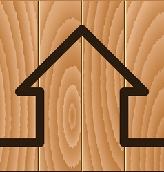 Wooden house symbol vector
