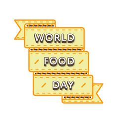 World food day greeting emblem vector