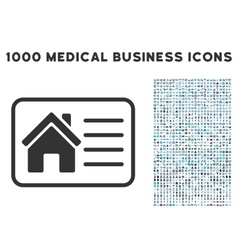House info card icon with 1000 medical business vector