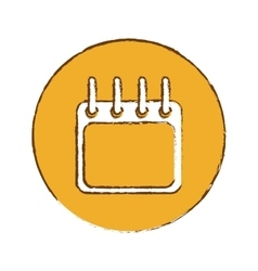 Calendar or agenda thumbnail icon image vector