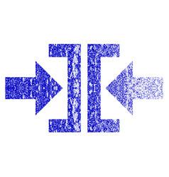 press horizontal direction grunge textured icon vector image