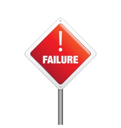 Failure sign vector image