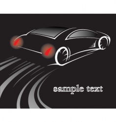car on black vector image
