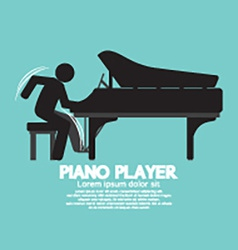 Black symbol piano player vector