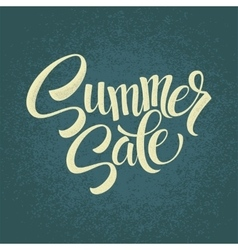 Summer sale original handwritten calligraphy vector