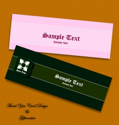 Thank you card and gift voucher eps10 vector