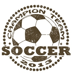 Soccer label vector