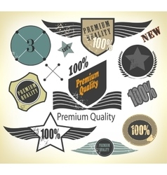Set of premium quality and guarantee vector