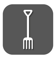 The pitchfork icon fork symbol flat vector
